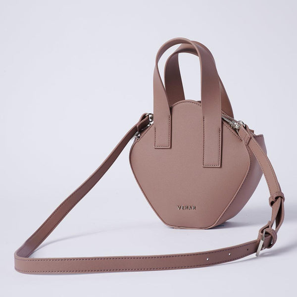 Elaine - Basic Irregular Cube Crossbody Bag (BR) - VEMAR MALAYSIA I A beautiful you,from the inside out.