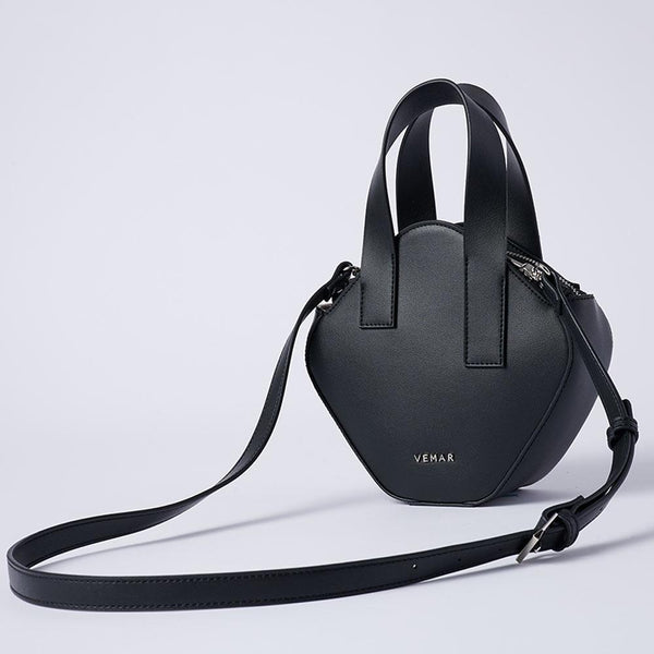 Elaine - Basic Irregular Cube Crossbody Bag (BK) - VEMAR MALAYSIA I A beautiful you,from the inside out.