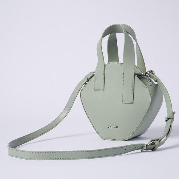 Elaine - Basic Irregular Cube Crossbody Bag (GR) - VEMAR MALAYSIA I A beautiful you,from the inside out.