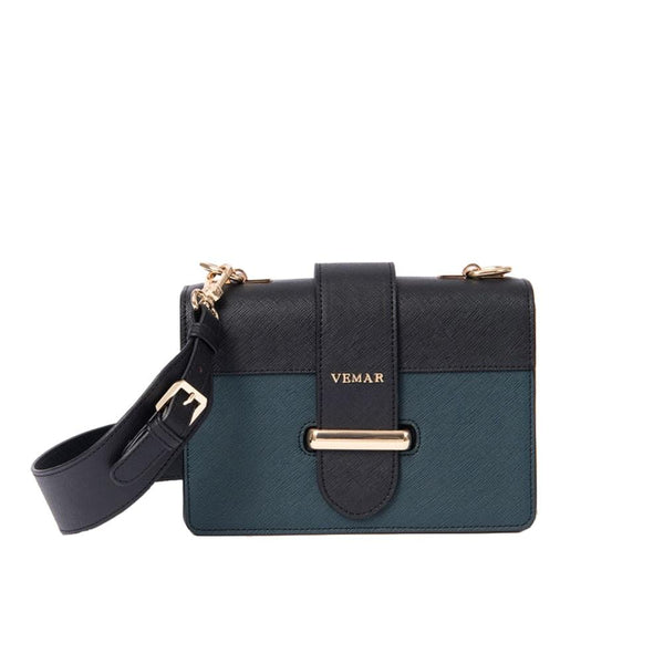 VEMAR ELEGANT SATCHEL BAG WIT CLASH COLOR