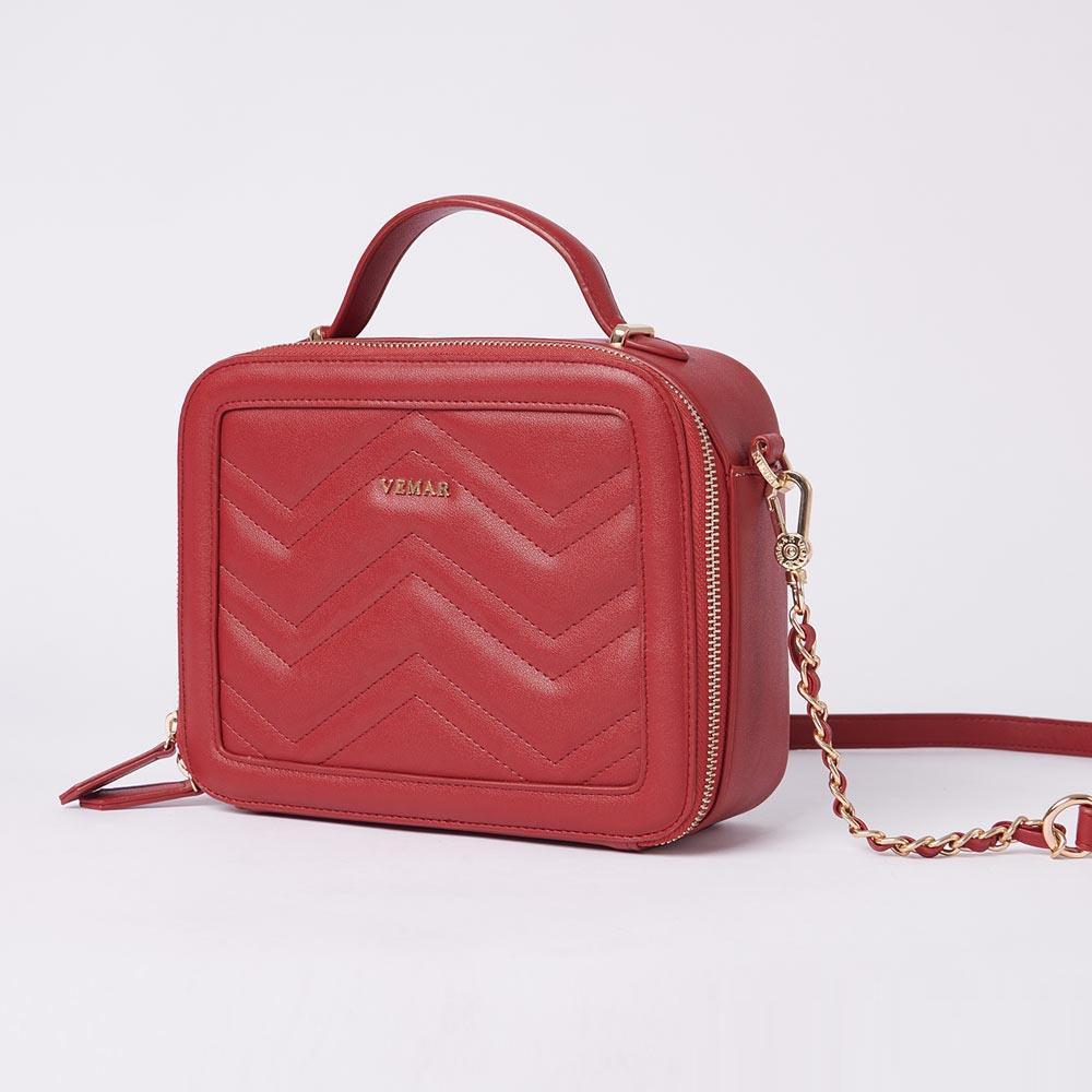 Vemar Elegant Square Shoulder Bag With V Grain - VEMAR MALAYSIA I A beautiful you,from the inside out.