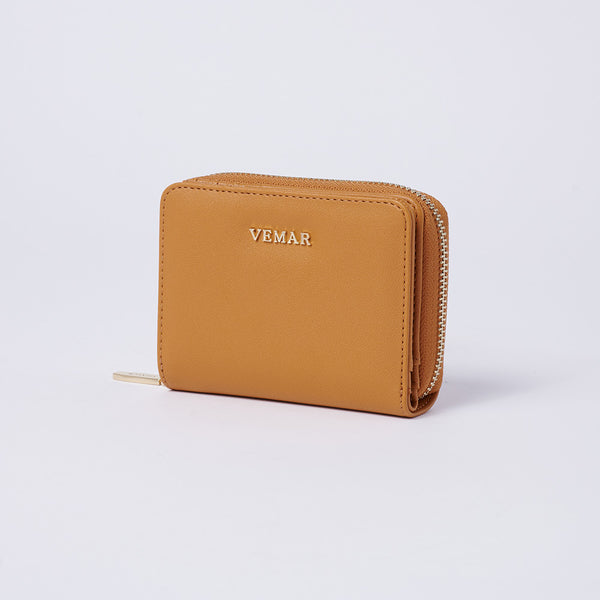 Vemar Fashion Leather Small Zip Wallet- (YL)