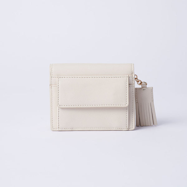 Elvira - Vemar Bi-fold Wallet With Tassel(WH)