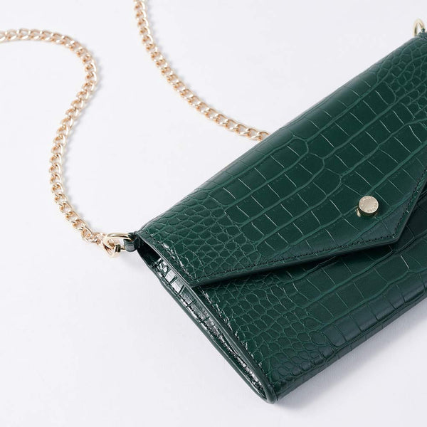 Claire - Vemar Crocodile Pattern Woc Bag-(GR)