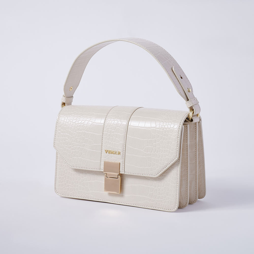 LIZZO - Vemar Crocodile Pattern Square Bag (BG)
