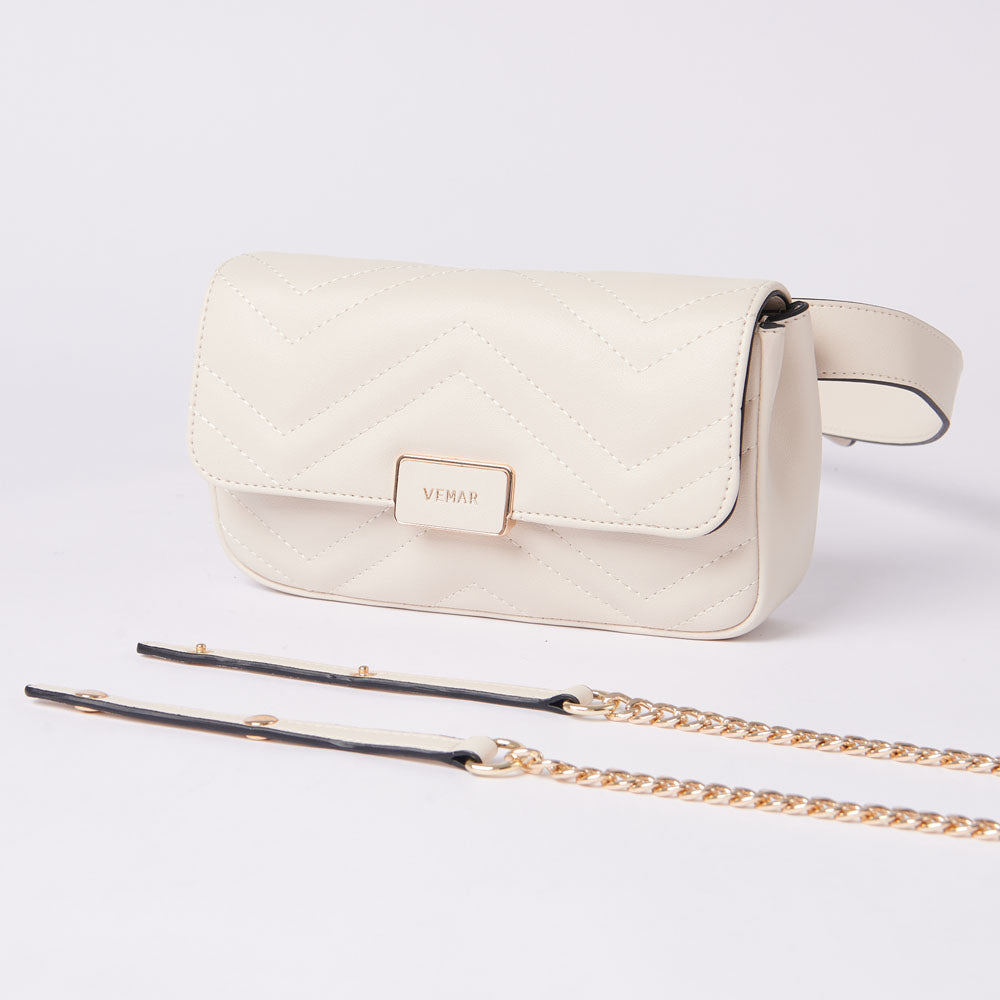 ALESSANDRA - Fashion Two Ways Belt Bag (WH)