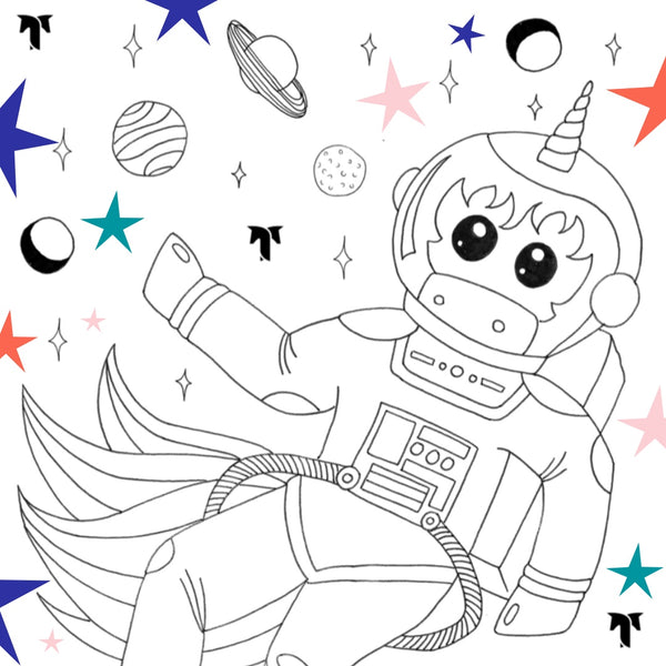 Free Download: AstroCorn Coloring Page