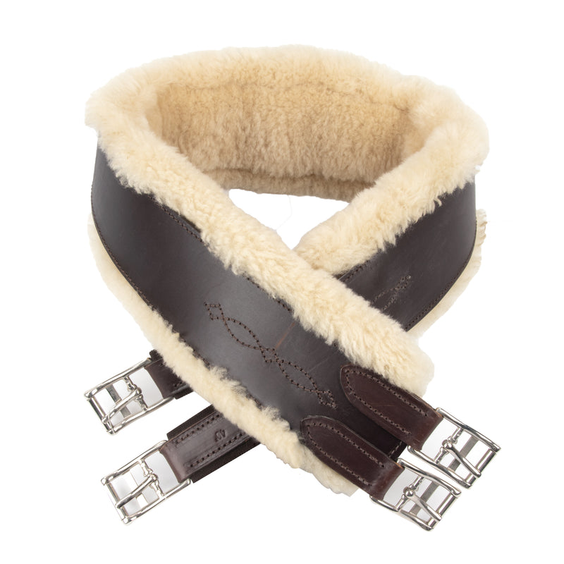 Beval Ltd. Single Elastic Fancy Removable Shearling Leather Girth