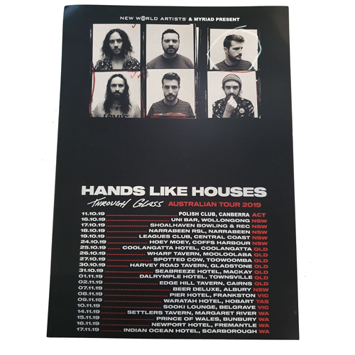 Hands Like Houses - 2019 Aus Tour Poster