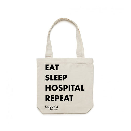 Eat Sleep Hospital Repeat Tote Bag