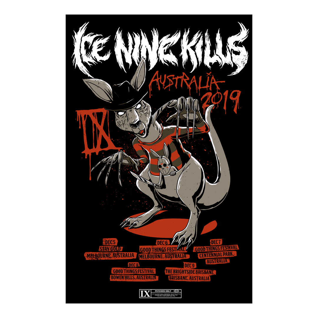 Ice Nine Kills - Signed Tour Poster