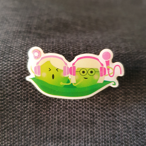 Too Peas Pin