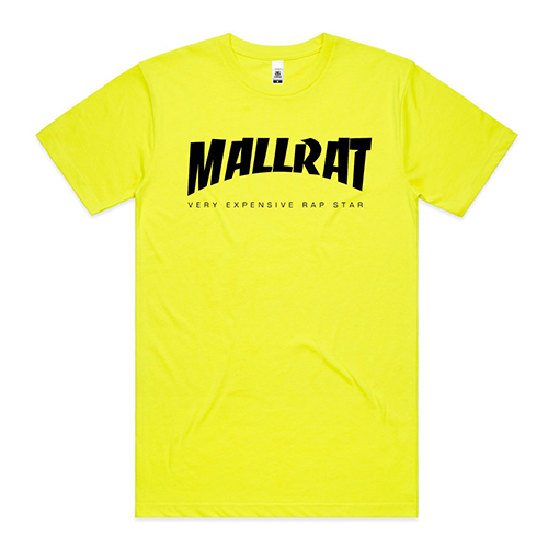 Mallrat - Original Logo Fluro Yellow Tee