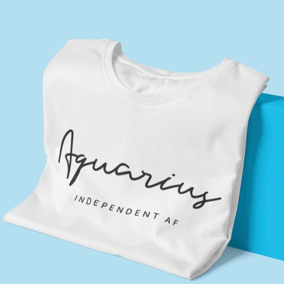 Aquarius Independent AF Tee - Black Print