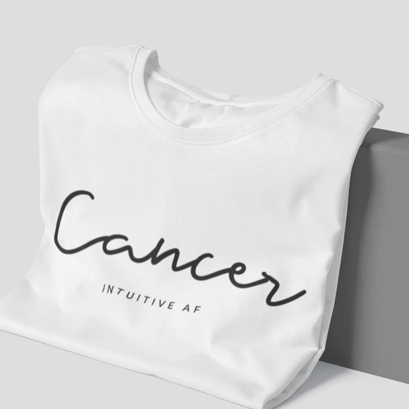 Cancer Intuitive AF Tee - Black Print