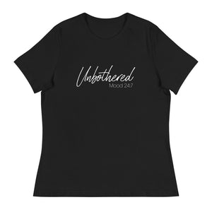 Unbothered Mood 24/7 Tee - White Print