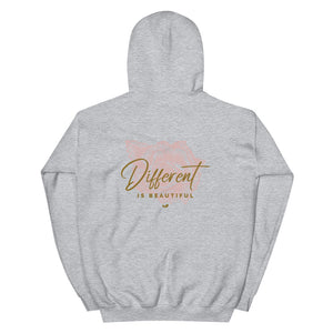 Different is Beautiful Rear Print Hoodie