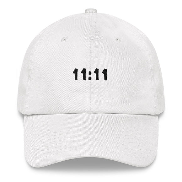 11:11 Dad hat (black embroidery)