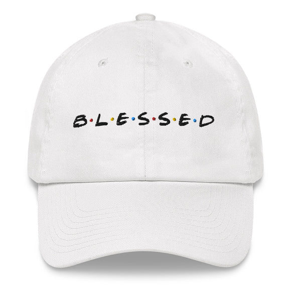 B•L•E•S•S•E•D Dad hat - black print