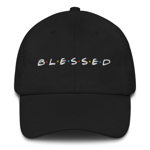B•L•E•S•S•E•D Dad Hat - White Print