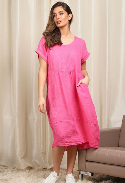 Anne + Kate Italian Linen Quirky Style Lagenlook Dress