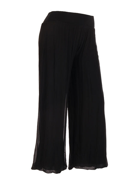 Anne + Kate Italian Silk Trouser with Elasticated Waist