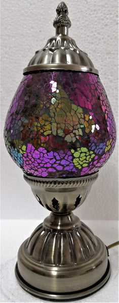 Turkish Oval Mosaic Lamp TL70