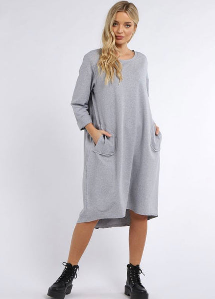 Anne + Kate Italian Plain Cotton Quirky Lagenlook Dress