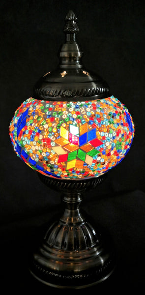 Turkish Mosaic Lamp Multi Coloured TL98