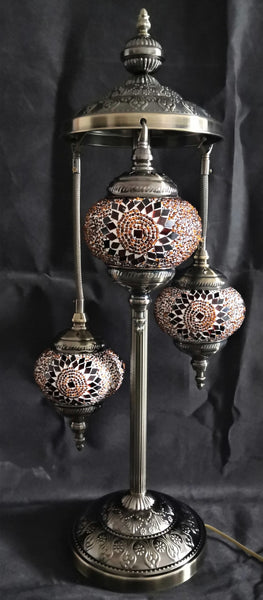 Turkish Mosaic Electric Lamp 3 Tier TL44