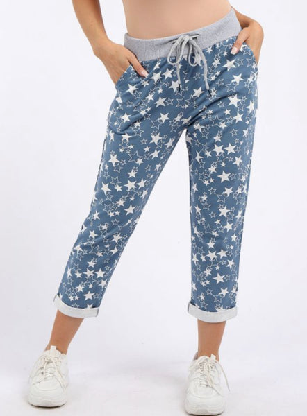 Anne + Kate Italian Little Star Print Trouser 10-14