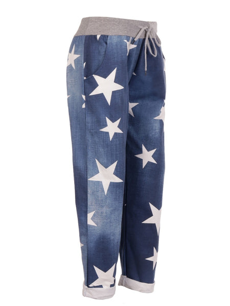 Anne + Kate Italian Star Dark Denim Print Trouser 10-14