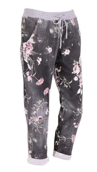 Anne + Kate Italian Rose Black Denim Trouser 14-18