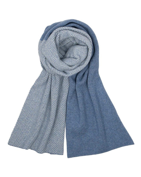 Cadenza Italy Cashmere Blend Twill Long Scarf