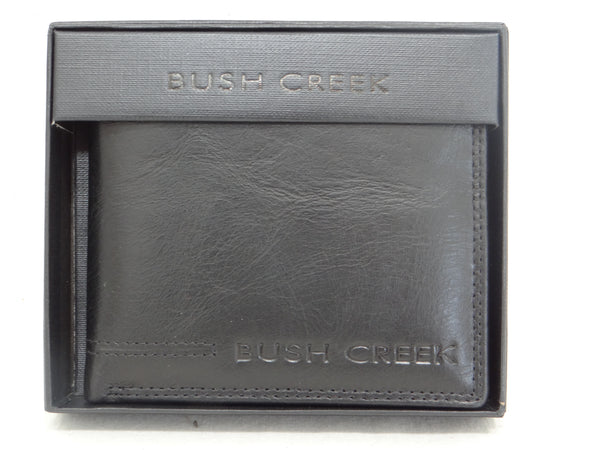 Bush Creek Buck Leather Men's Wallet with Removable Card Holder
