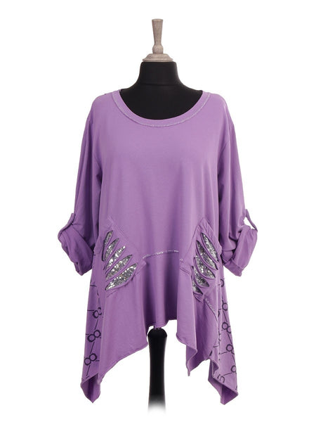 Anne + Kate Italian Glittery Trim Tunic Top