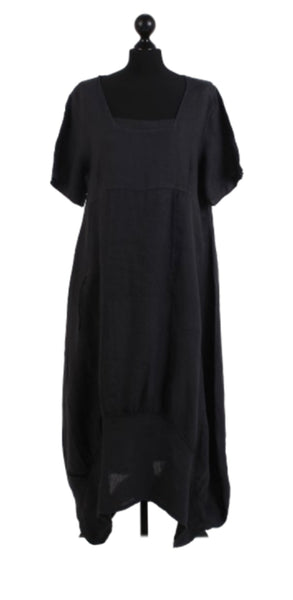 Anne + Kate Italian Linen Square Quirky Balloon Hem Dress