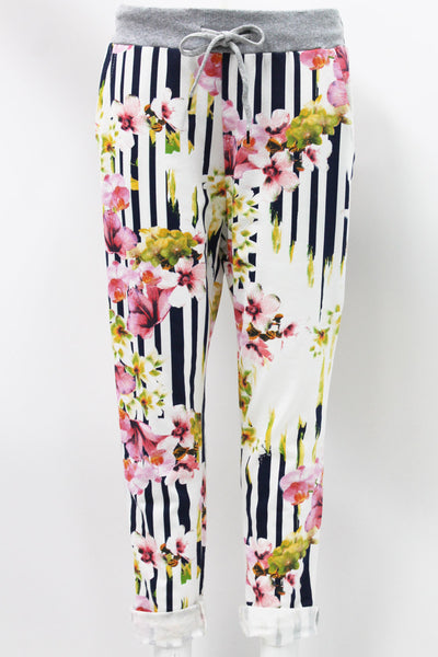 Anne + Kate Italian Cherry Blossom Print Trouser 10-16