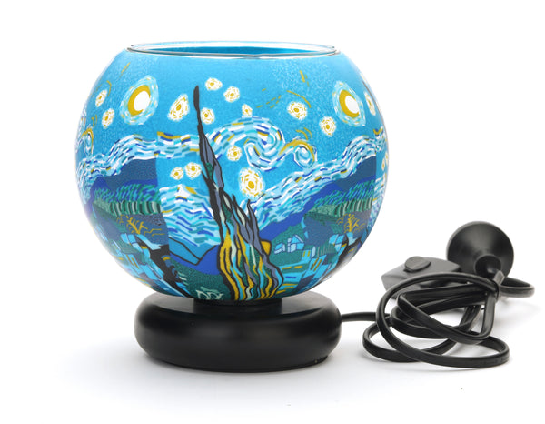 Starry Night Glass Electric Lamp