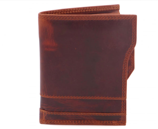 Second Nature The Vintage  Collection Fold Over Men's Wallet Tan