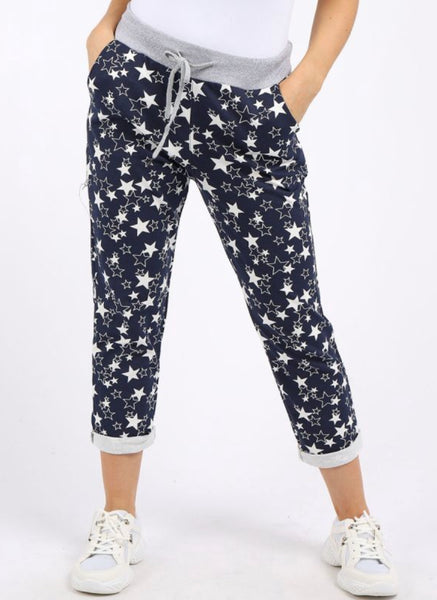 Anne + Kate Italian Little Star Print Trouser 14-18