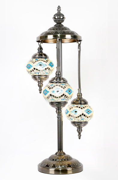Turkish Mosaic Electric Lamp Three Tier