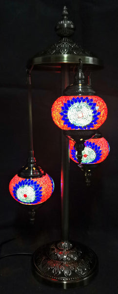 Turkish Mosaic Electric Lamp 3 Tier TL126