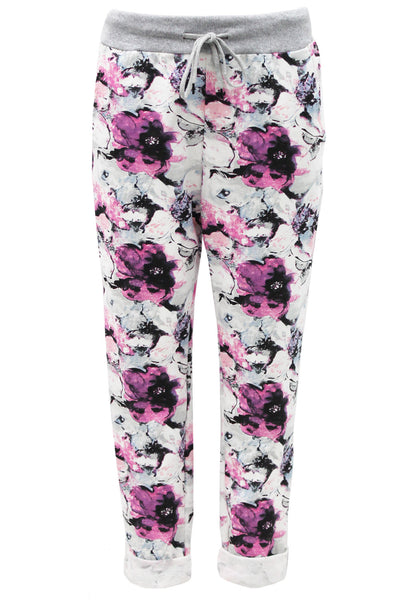 Anne + Kate Purple Bouquet Print Trouser 10-16