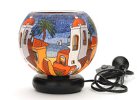 Santorini Sunset Glass Electric Lamp