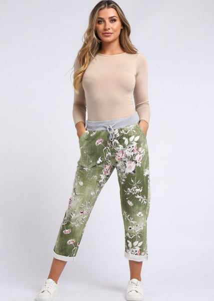 Anne + Kate Italian Rose Olive Denim Trouser 14-18