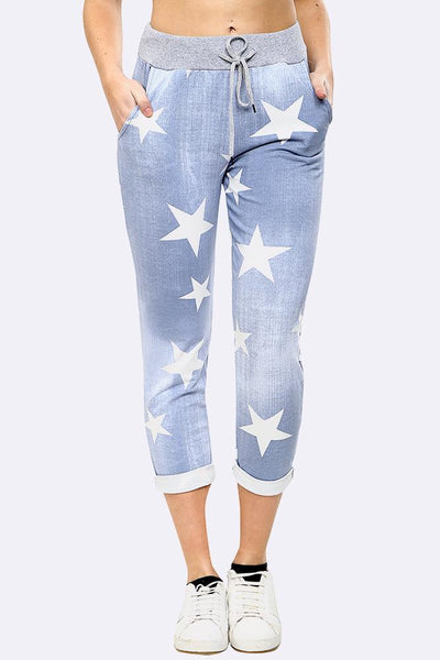 Anne + Kate Italian Star Light Denim Print Trouser 10-16