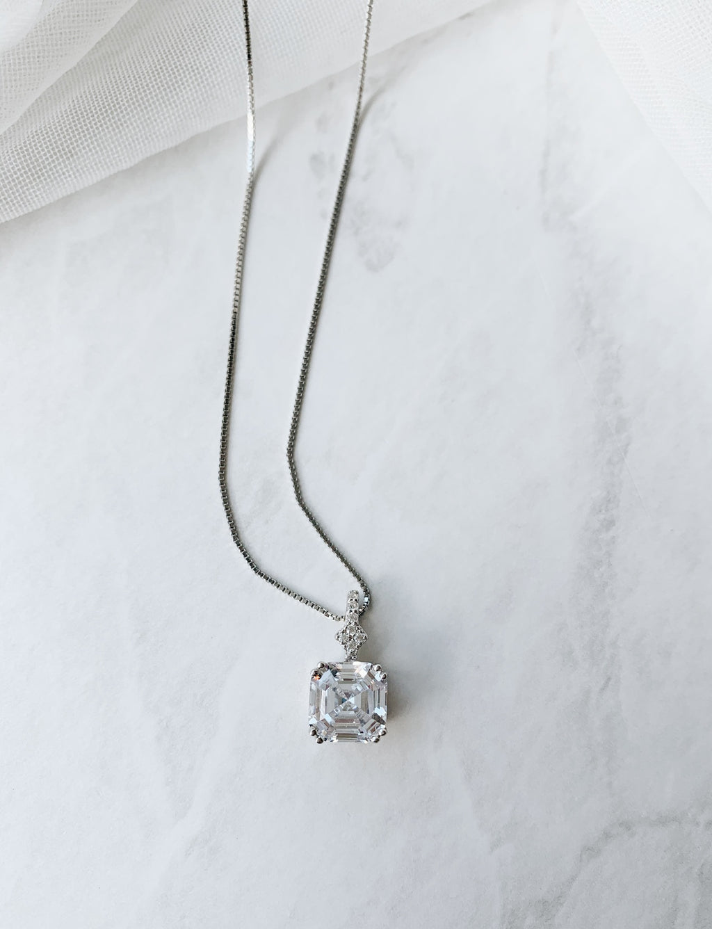Crystal Cube Necklace