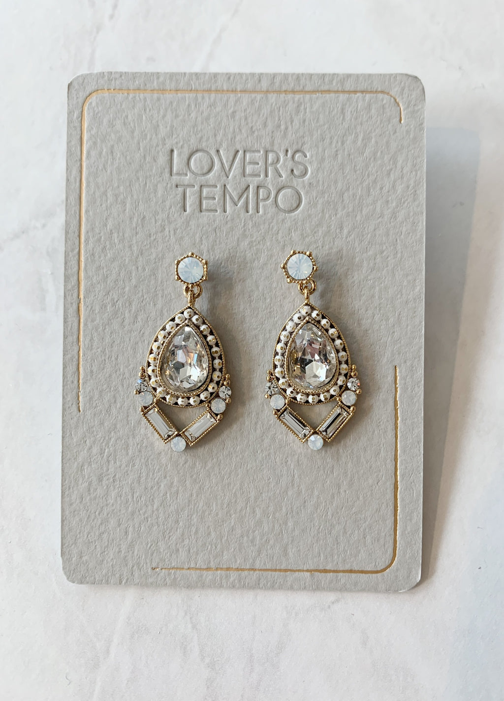 Nadia Drop Earrings - Clear