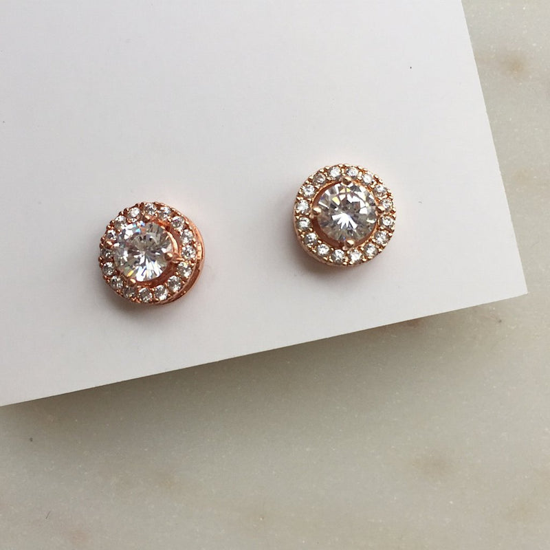 Hazel Earrings Rose Gold